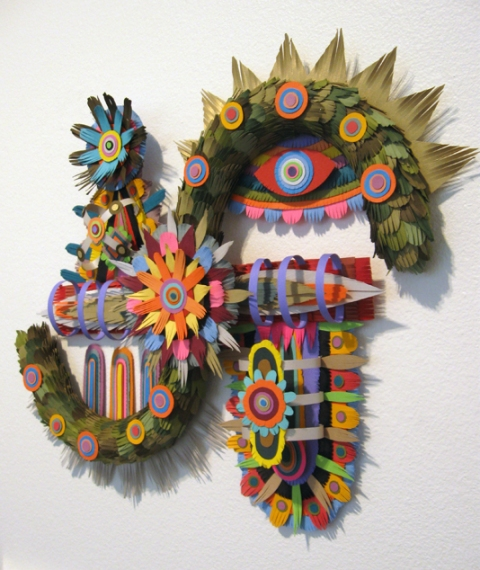 MICHAEL VELLIQUETTE Early Paper Sculpture Paper card stock