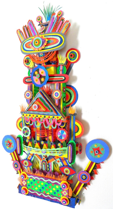 Early Paper Sculpture Happy Tower