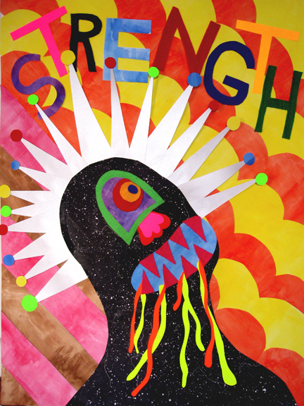 Drawing, Painting & Collage Affirmations (Strength)