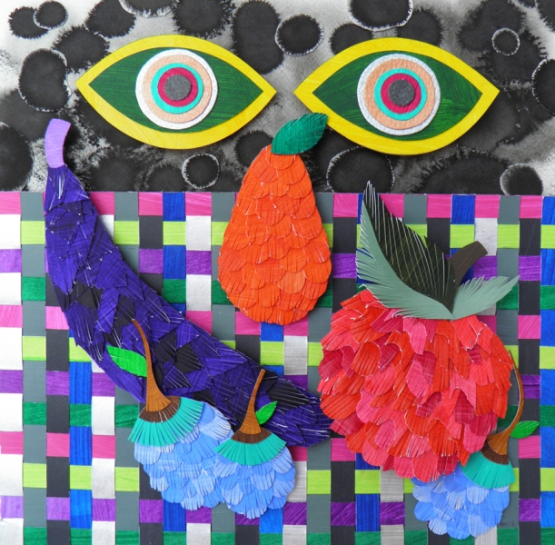 Recent Cut Paper Works Still Life with Eyes