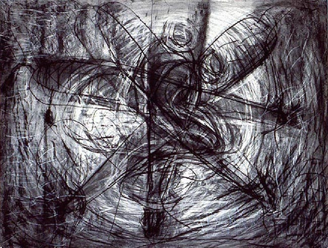 Victor Davson Limbo Anansi Drawings Charcoal on paper