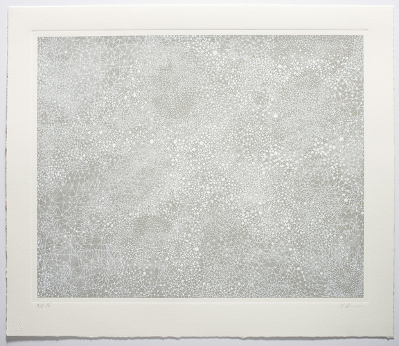 VICTORIA BURGE Cirrus Screenprint with embossing