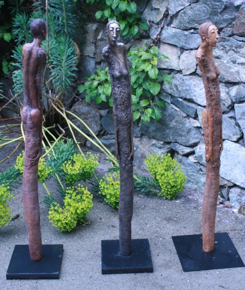 Bronze Work  resin, bronze and clay