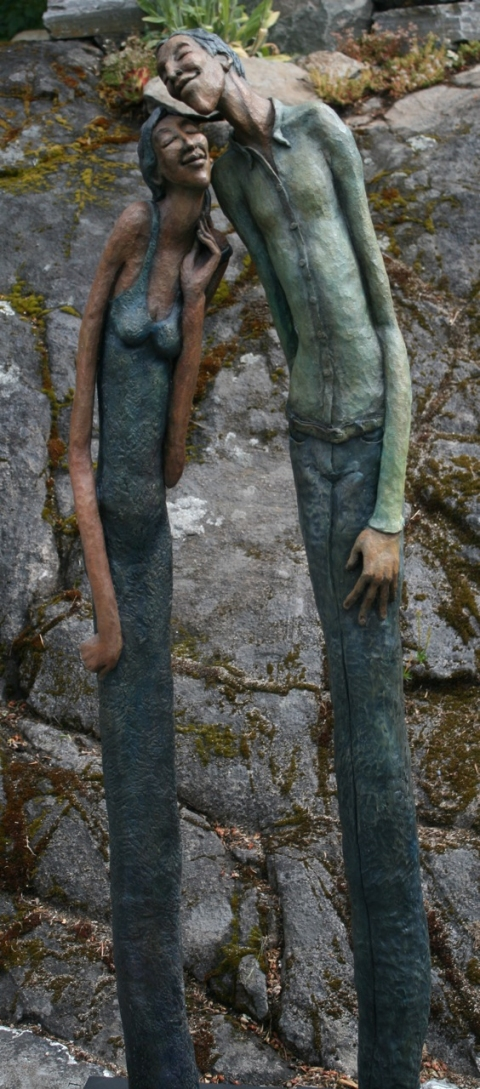 Figurative Clay Sculpture Cecil and Celeste