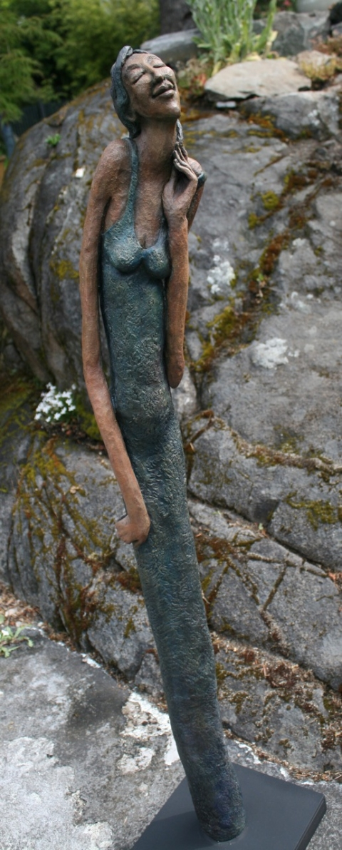 Figurative Clay Sculpture Celeste
