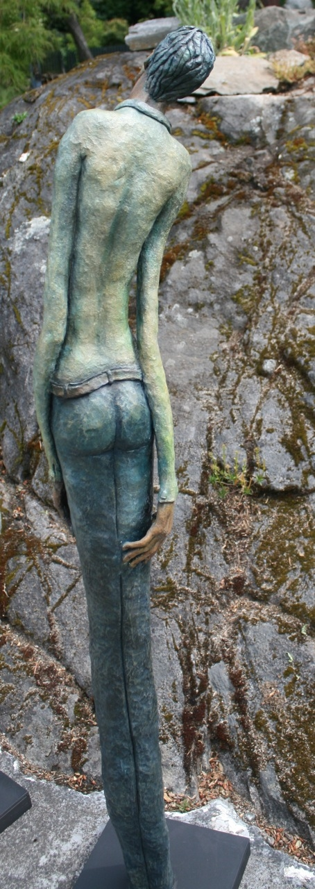 Figurative Clay Sculpture Cecil back view