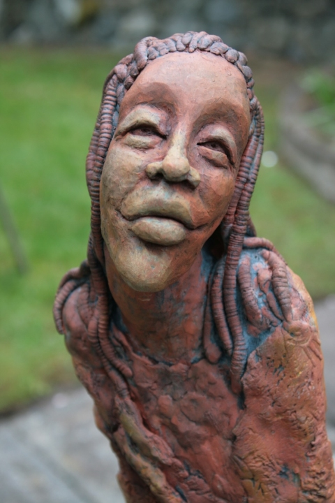 Figurative Clay Sculpture Seth detail