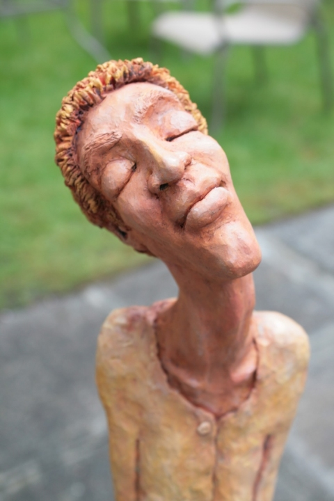 Figurative Clay Sculpture The Promise detail
