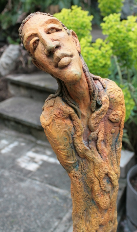 Figurative Clay Sculpture Bartholomew detail