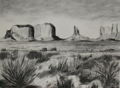 Mitchell Visoky Archived Drawings Charcoal