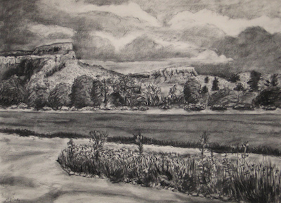 Mitchell Visoky Archived Drawings Charcoal, conte crayon