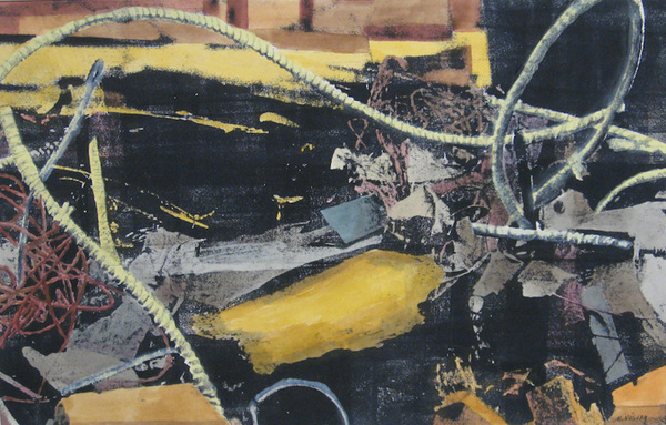 Mitchell Visoky Archived Mixed Media Monotype, watercolor, toner transfer
