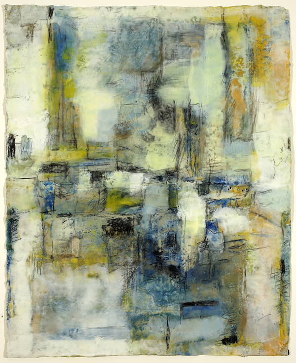 Mitchell Visoky Paintings Encaustic, oil stick on handmade paper
