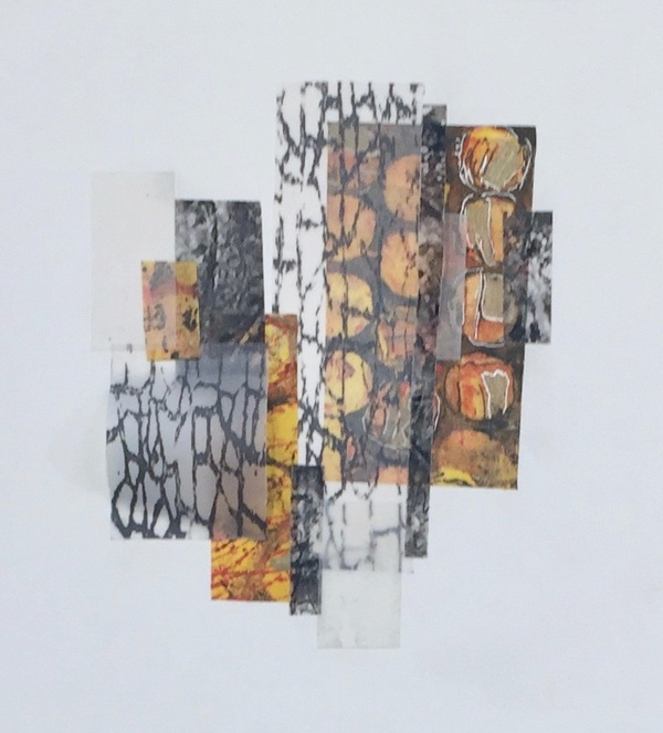 Mitchell Visoky Mixed Media Collage, photographs on vellum