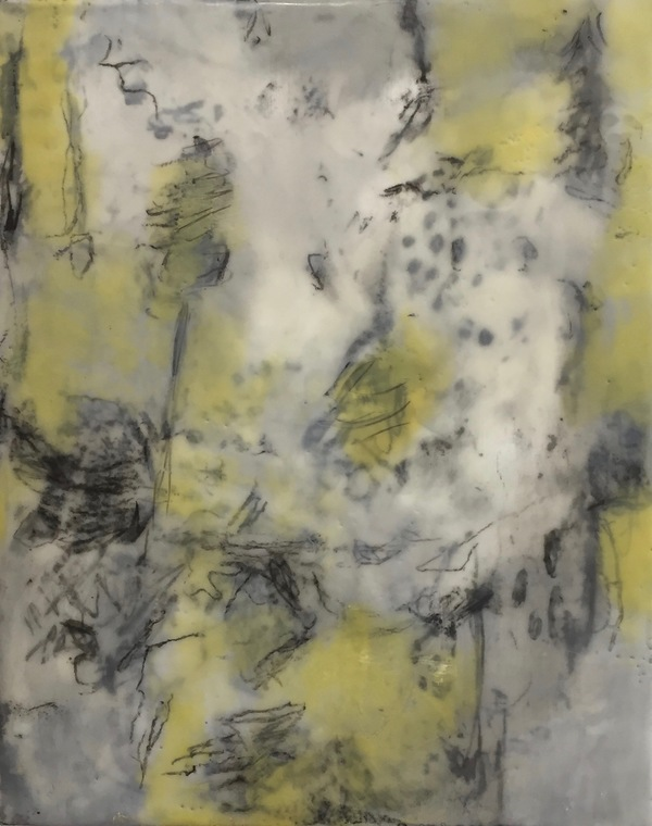 Mitchell Visoky Paintings Encaustic on cradled board, litho crayon