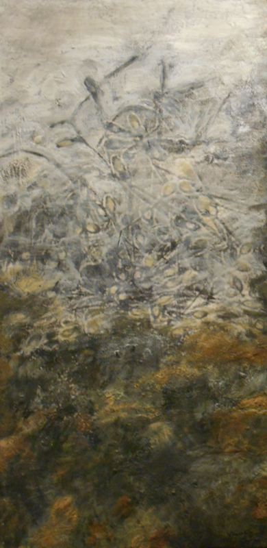 Mitchell Visoky Archived Paintings Encaustic, oil stick, silk tissue