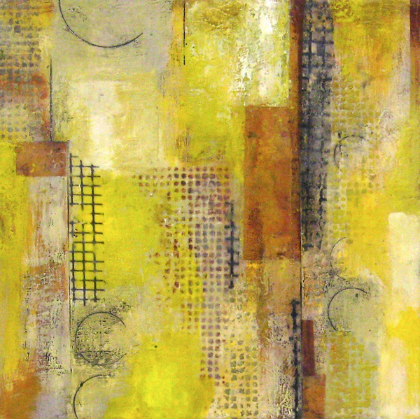 Mitchell Visoky Paintings Encaustic wax, paper, oil stick, toner transfer on board