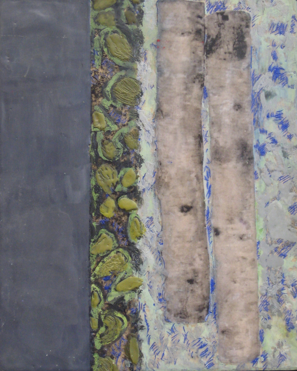 Mitchell Visoky Archived Paintings Encaustic wax, oil stick, toner transfer