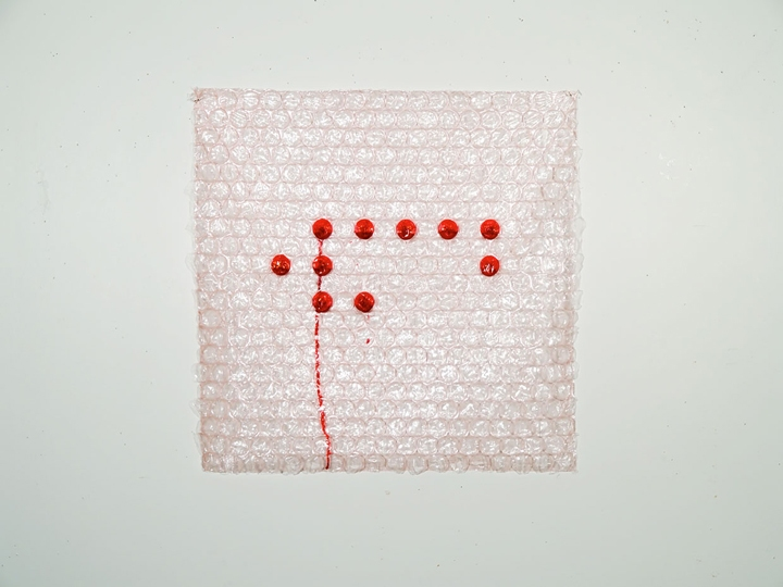 Braille Based Art Red Blood Sells (The Language of War - WMD)