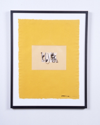 Walter Kopec Word Based Art ink, vinyl, vellum, paper