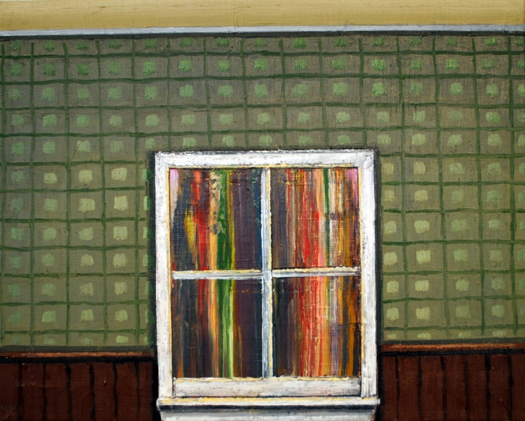 wayne hopkins windows oil on canvas