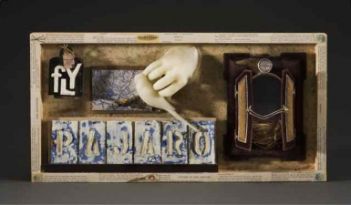 Wendy Aikin Assemblage Encaustic Mixed Media