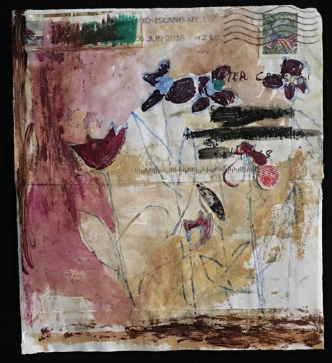 Wendy Young Envelope Series mixed media on paper envelope