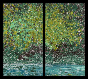 Diptychs Waterfalls Diptych, No. 6