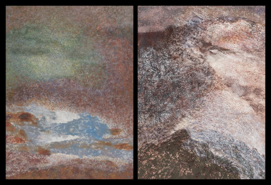 Nature-based Abstraction Diptychs Nature-based Abstraction Diptych, No. 2