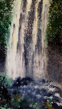 Manoa Falls ink monotype on paper