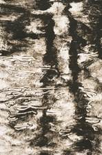 Willa Cox Water  monotype on paper (printed using a spoon)
