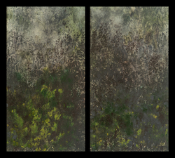 Diptychs ink monotype on paper