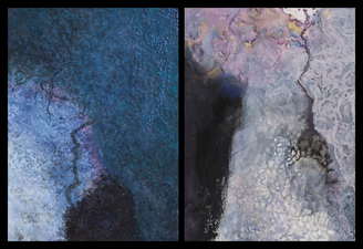 Nature-based Abstraction Diptychs mixed media on paper