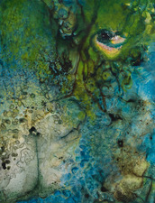 Nature-based Abstraction mixed media on paper