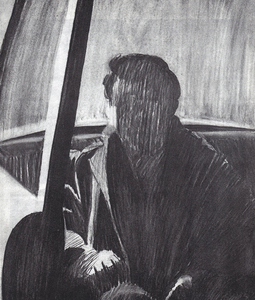 William Clutz Paintings charcoal on paper, 27 x 22.5 inches
