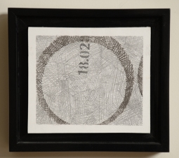 "WILLIAM C. MAXWELL  ""The Perfect Circle"" Perfect Circle:  modus operandi Series, 2003-present Graphite and Mixed Media"