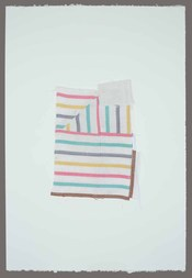 Wilson Avenue Loft Artists LORI GLAVIN fabric and thread on paper
