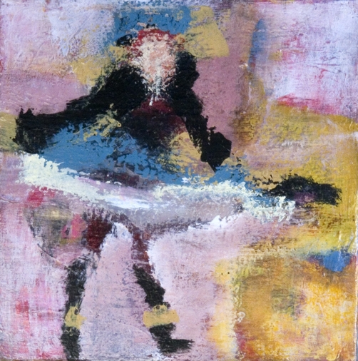 PAINTING Dancer / Acrylic on Canvas / 12 x 12 inches / SOLD