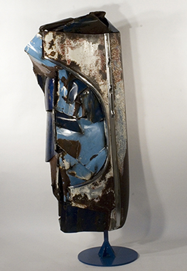 SCULPTURE Fender / Welded Assemblage Sculpture / 72 x 32 x 24 inches / John Wilson / copyright 2012