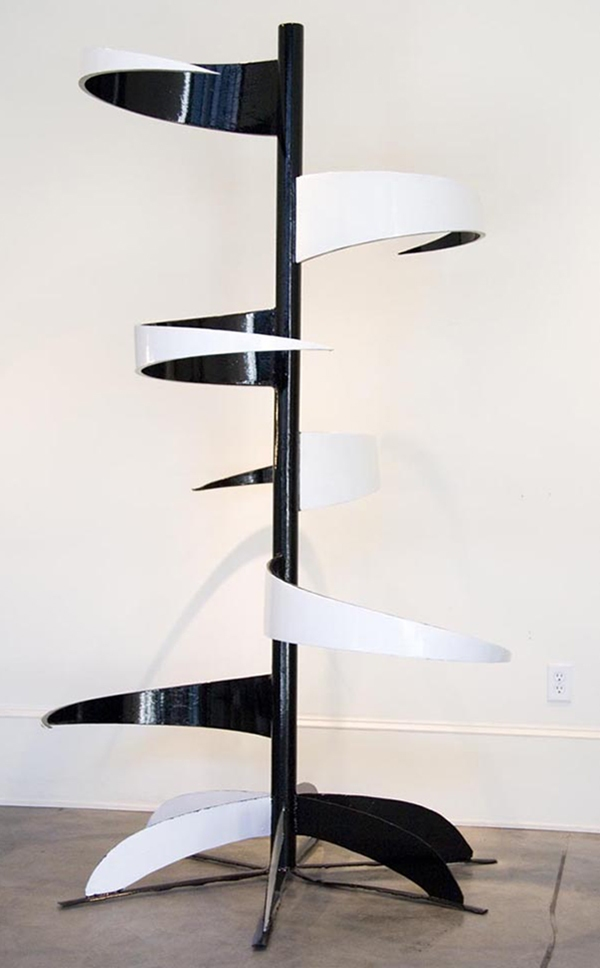SCULPTURE Balance / Painted Welded Steel Sculpture / John Wilson copyright 2011