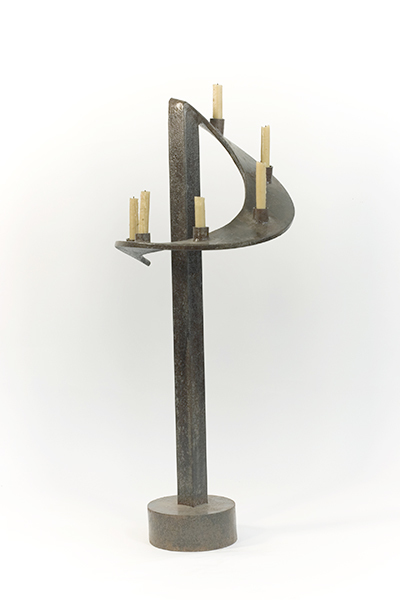 SCULPTURE Manora / Patina Found Object / 40 x 16 x 16 inches / SOLD / John Wilson copyright 2001