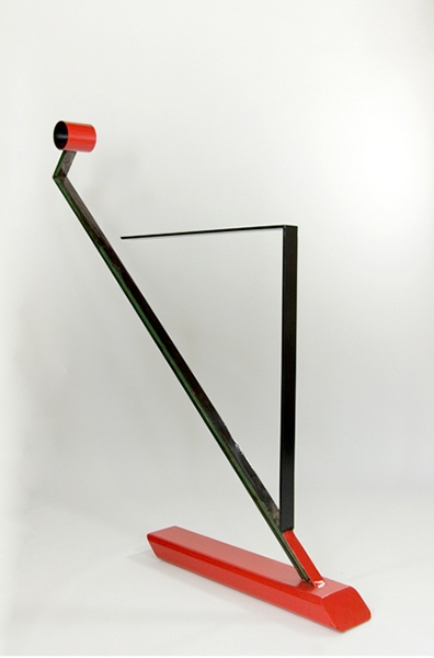 SCULPTURE Angle Of Repose / Painted Steel Sculpture / 82 x 80 x 8 inches / SOLD
