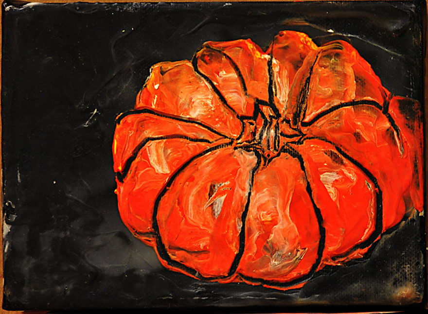 SMALL PAINTINGS MINI PUMPKIN ONE