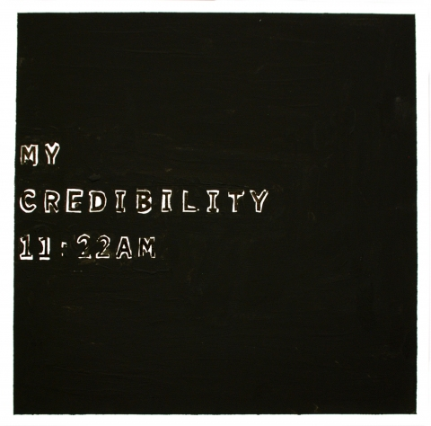 My credibility