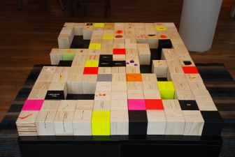 YEJI JUN Thinking Blocks I Acrylic on wood blocks-total 150 blocks