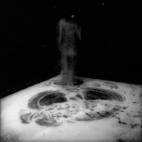 marie yoho dorsey Body of Salt Photo documented performance, silver gelatin print