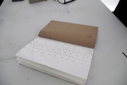 Marie Yoho Dorsey Projects Notebook perforated with incense