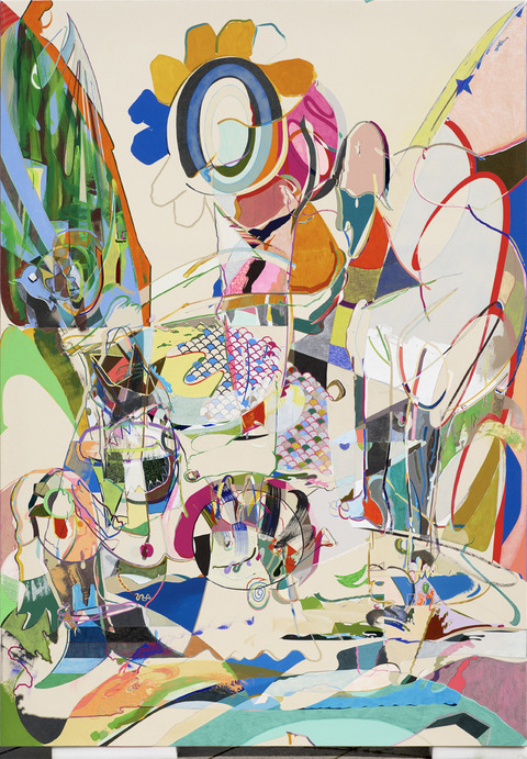 Young Do Jeong Painting Acrylic, spray paint, graphite, color pencil, and marker on canvas