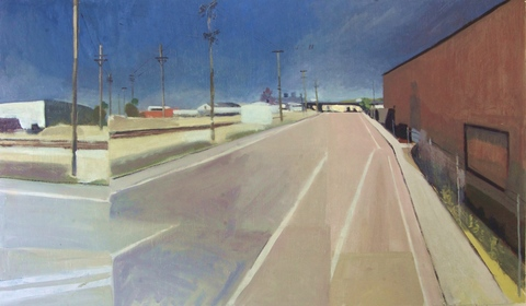 Craig Eastland Exit Left for America oil on canvas