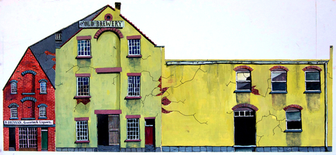 Craig Eastland Cut & Assemble The Old Brewery gouache & ink on paper